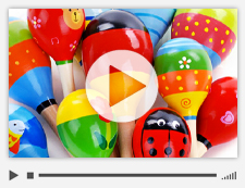 Video slide of a child's colorful xylophone.
